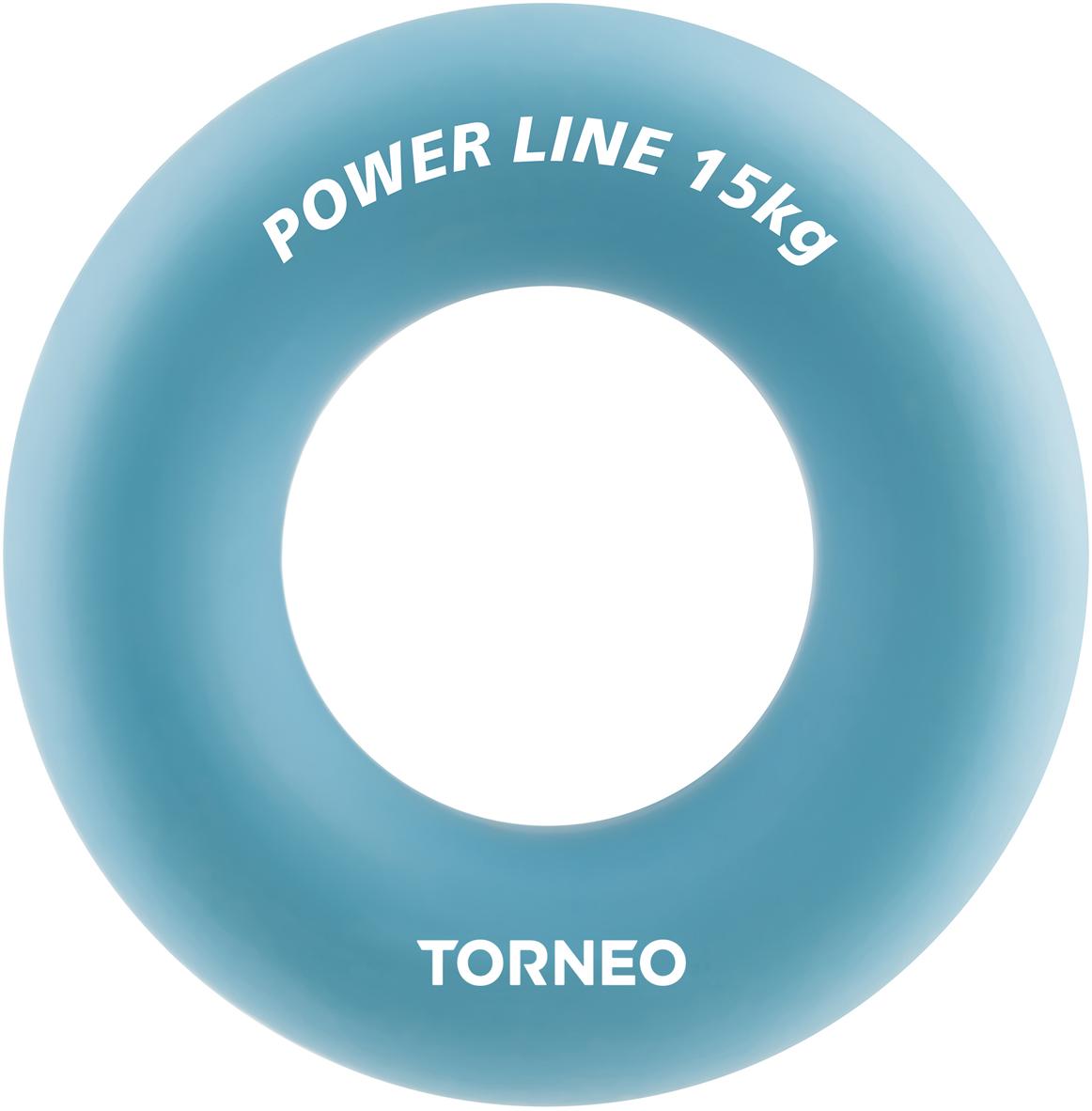 Эспандер кистевой Torneo, диаметр 8,8 см, сопротивление 15 кг, цвет: голубой эспандер грудной torneo