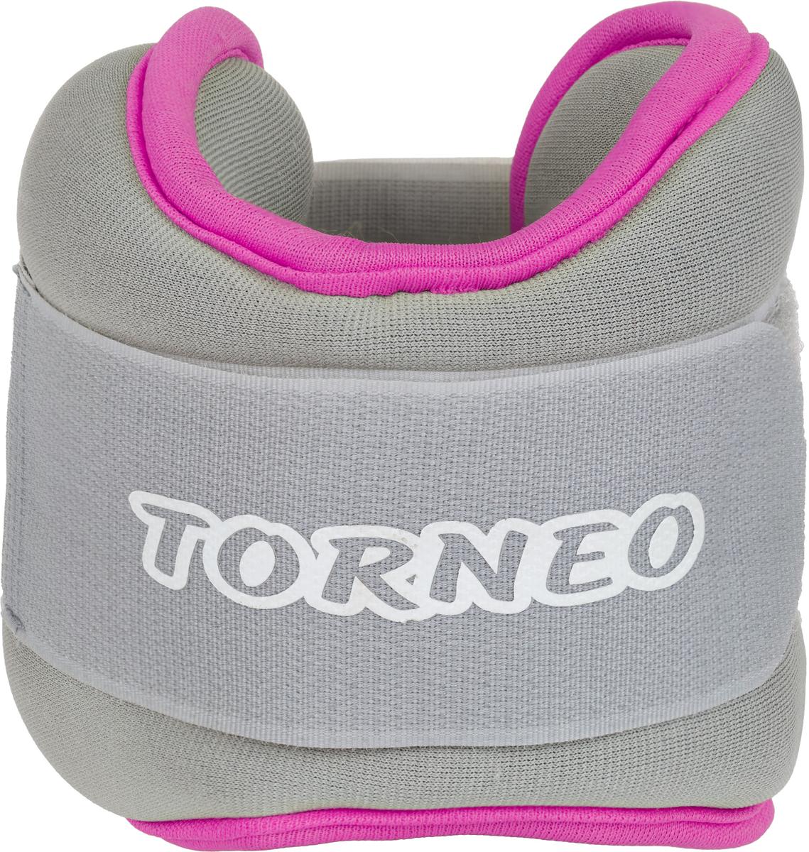 Набор утяжелителей Torneo, цвет: серый, 0,75 кг, 2 шт утяжелитель браслет для рук и ног indigo цвет красный 0 2 кг 2 шт