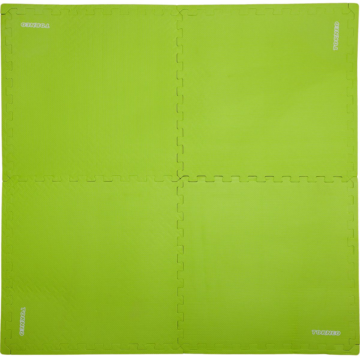 Коврик для йоги и фитнеса Torneo, цвет: зеленый, 124 х 124 см сетка для бадминтона со стойками torneo nt 100t