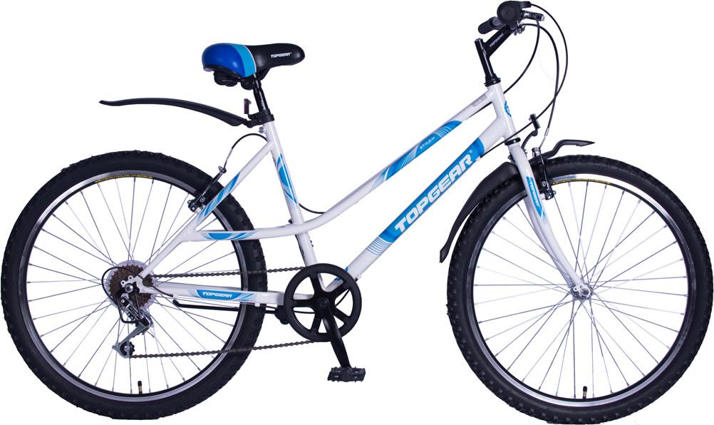 Велосипед горный TopGear Style 100, цвет: белый. ВН26420-6sН