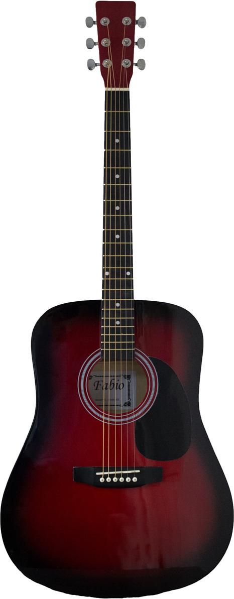Fabio SA105, Red акустическая гитара