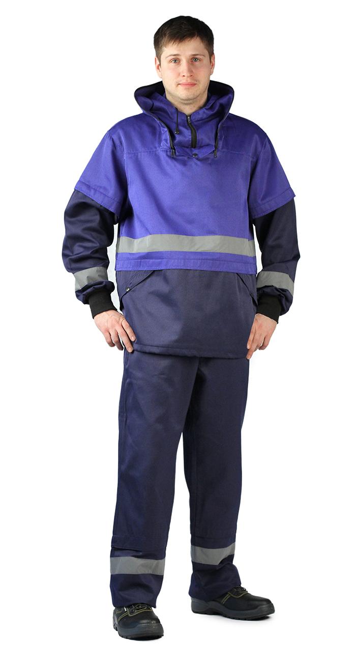 Костюм противоэнцефалитный мужской Ursus: куртка, брюки, цвет: темно-синий, васильковый. КОС256-002. Размер 56/58-170/176