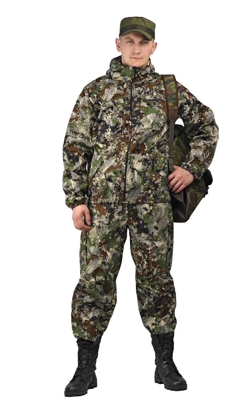 Костюм камуфляжный мужской Ursus Турист 1: куртка, брюки, цвет: зеленый. КОС286-К66. Размер 48/50-182/188