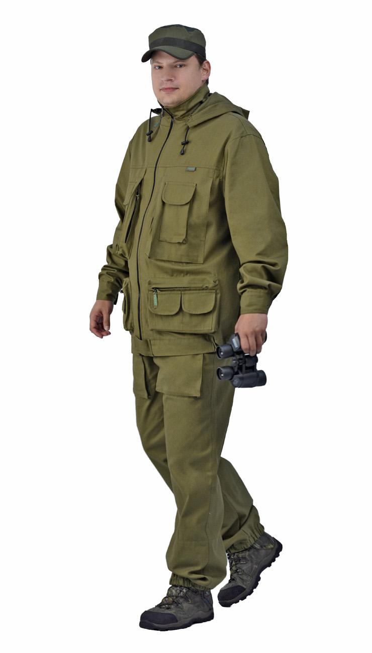 Костюм камуфляжный мужской Ursus Следопыт: куртка, брюки, цвет: хаки. КОС291-270. Размер 44/46-170/176