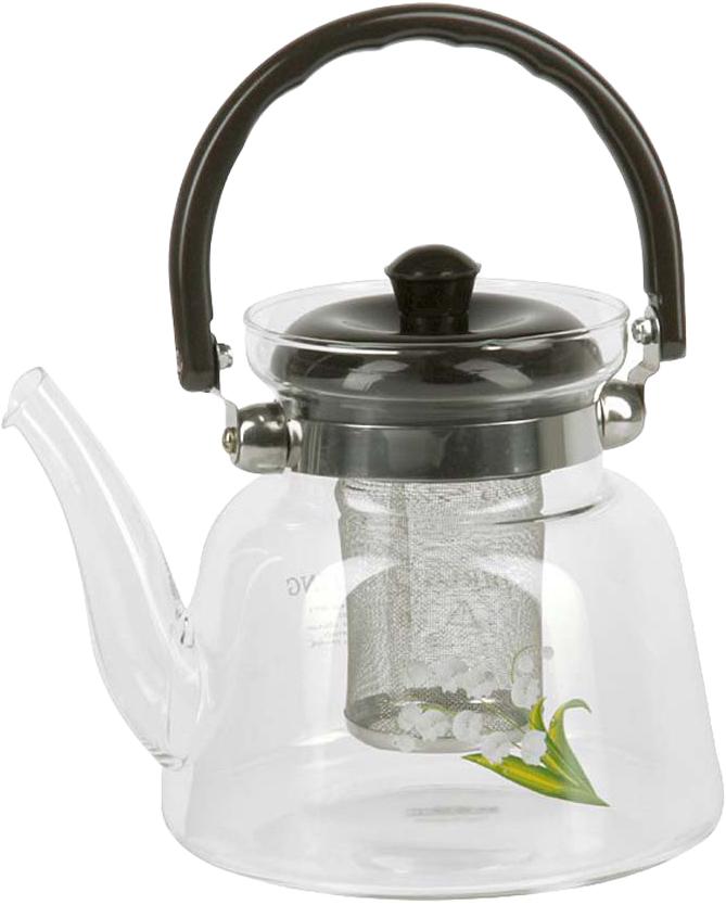Чайник заварочный Rosenberg RGL-250005 изготовлен из жаропрочного стекла. Посуда из данного материала позволяет максимально сохранить полезные свойства и вкусовые качества воды. Заварите крепкий, ароматный чай в представленной модели, и вы получите заряд бодрости, позитива и энергии на весь день. Классическая форма и универсальная цветовая гамма изделия позволят наслаждаться любимым напитком в атмосфере еще большей гармонии, эмоциональной наполненности и добавят нотку романтичности. Преимущества чайника: Изготовлен из качественного материала. Выдерживает температуру от -15 C до 148 C, подходит для газовых плит . Бакелитовая ручка не нагревается. Съемное металлическое ситечко для заварки также выполняет функцию фильтра, который задержит чаинки. Украшен цветочным декором, что придает изделию элегантность и утонченность. Подойдет в качестве подарка для ваших любимых, родных и близких.