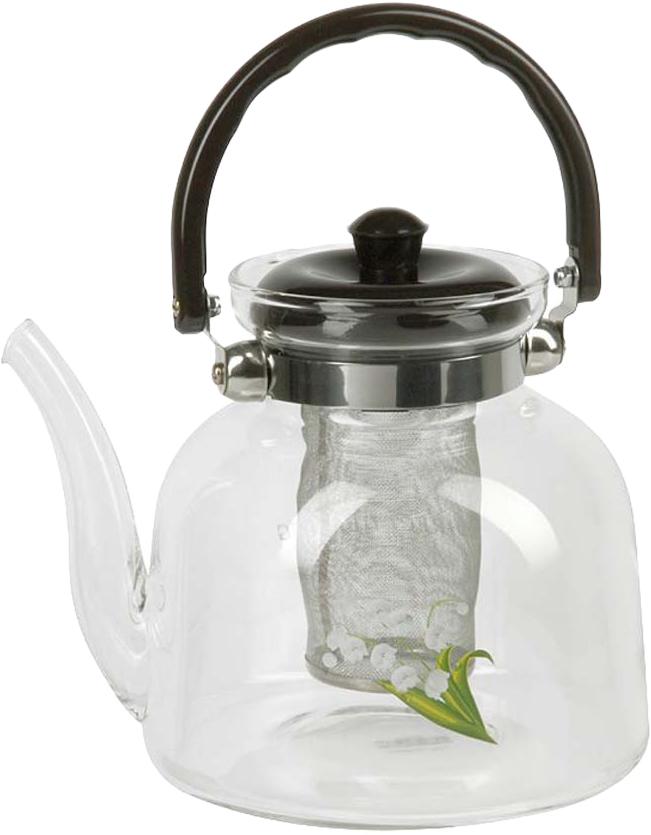 Чайник заварочный Rosenberg изготовлен из жаропрочного стекла. Посуда из данного материала позволяет максимально сохранить полезные свойства и вкусовые качества воды. Заварите крепкий, ароматный чай в представленной модели, и вы получите заряд бодрости, позитива и энергии на весь день! Классическая форма и универсальная цветовая гамма изделия позволят наслаждаться любимым напитком в атмосфере еще большей гармонии, эмоциональной наполненности и добавят нотку романтичности. Преимущества чайника: Изготовлен из качественного материала. Выдерживает температуру от -15 C до 148 C подходит для газовых плит . Бакелитовая ручка не нагревается. Съемное металлическое ситечко для заварки также выполняет функцию фильтра, который задержит чаинки. Украшен цветочным декором, что придает изделию элегантность и утонченность. Подойдет в качестве подарка для ваших любимых, родных и близких.