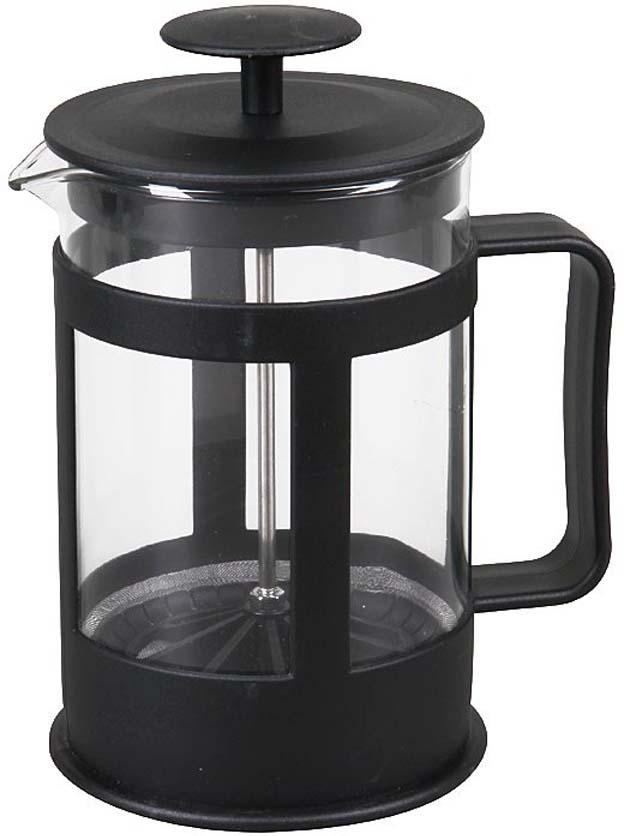 Если вы любите чай и кофе,то наверняка знаете, что поистине вкусны и ароматны бывают исключительно заварные напитки. Традиционно, для заваривания кофе используют турку, а для чая керамический чайник. Вы удивитесь, но оба этих предмета с легкостью объединяет в себе френч-пресс Rosenberg! Френч-пресс крайне удобен и практичен в использовании. Помимо уже упомянутых чая и кофе он также подходит для приготовления травяных, ягодных и фруктовых настоев. Просто засыпьте в колбу соответствующую заварку, залейте содержимое кипятком и дайте настояться. Когда напиток заварится и будет готов к употреблению, опустите поршень и подождите пока осадок опустится на дно. Такой отжим придаст напитку еще более насыщенный цвет и вкус. Особенности и преимущества френч-пресса: Прозрачная колба - напиток заваривается прямо у вас на глазах. Наличие фильтра-поршня обеспечивает равномерную циркуляцию воды. Эргономичная ручка френч-пресс удобно держать в руках. Особая форма носика предотвращает образование подтеков. Оригинальный дизайн френч-пресса прекрасно впишется в сервировку стола. Корпус модели выполнен из пищевого пластика, а колба - из устойчивого к перепадам температур стекла.