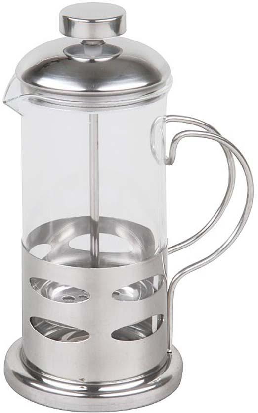 Если вы любите чай и кофе также, то наверняка знаете, что поистине вкусны и ароматны бывают исключительно заварные напитки. Никаких тебе пакетиков, быстрорастворимого кофе и разрекламированных чайных пирамидок! Традиционно, для заваривания кофе используют турку, а для чая керамический чайник. Вы удивитесь, но оба этих предмета с легкостью объединяет в себе френч-пресс Rosenberg! Френч-пресс крайне удобен и практичен в использовании. Помимо уже упомянутых чая и кофе он также подходит для приготовления травяных, ягодных и фруктовых настоев. Просто засыпьте в колбу соответствующую заварку, залейте содержимое кипятком и дайте настояться. Когда напиток заварится и будет готов к употреблению, опустите поршень и подождите пока осадок опустится на дно. Такой отжим придаст напитку еще более насыщенный цвет и вкус. Особенности и преимущества френч-пресса: Прозрачная колба - напиток заваривается прямо у вас на глазах. Наличие фильтра-поршня обеспечивает равномерную циркуляцию воды. Эргономичная ручка френч-пресс удобно держать в руках. Особая форма носика предотвращает образование подтеков. Оригинальный дизайн френч-пресса прекрасно впишется в сервировку стола. Корпус модели выполнен из нержавеющей стали, а колба из устойчивого к перепадам температур стекла. Нержавеющая сталь повсеместно используется в производстве посуды и отличается прекрасными потребительскими свойствами.