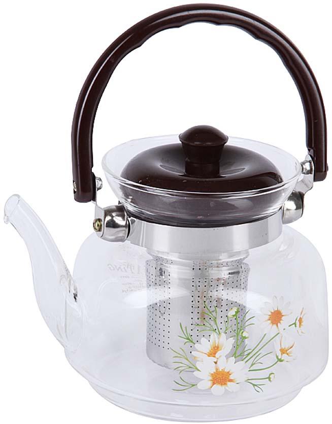 """Чайник заварочный """"Rosenberg"""" идеально подойдет как для ежедневного использования, так и для сервировки праздничного стола. Этот чайник станет настоящим открытием для истинных поклонников чайных церемоний.Корпус заварочного чайника выполнен из жаропрочного стекла, что делает его удивительно износостойким и легким в уходе. Ненагревающаяся бакелитовая ручка и съемный фильтр из нержавеющей стали делают чайник максимально удобным в использовании.Кроме этого можно выделить ещё несколько достоинств: - Устойчив к высоким температурам и различным химическим веществам. Выдерживает температуру от -15 C до 148 C, что позволяет его использовать как обычный заварочный чайник, а также чайник для газовых плит. - Не вступает в реакцию с пищей, не выделяет вредных веществ при нагреве. - Прекрасно сохраняет температуру, поэтому напиток будет оставаться теплым долгое время. - Простой и легкий уход."""