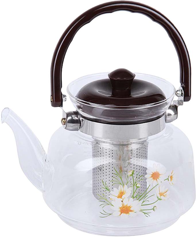 Чайник заварочный Rosenberg изготовлен из жаропрочного стекла. Посуда из данного материала позволяет максимально сохранить полезные свойства и вкусовые качества воды. Заварите крепкий, ароматный чай в представленной модели, и вы получите заряд бодрости, позитива и энергии на весь день! Классическая форма и универсальная цветовая гамма изделия позволят наслаждаться любимым напитком в атмосфере еще большей гармонии, эмоциональной наполненности и добавят нотку романтичности. Преимущества чайника: Изготовлен из качественного материала. Выдерживает температуру от -15 C до 148 C, подходит для газовых плит. Бакелитовая ручка не нагревается. Съемное металлическое ситечко для заварки также выполняет функцию фильтра, который задержит чаинки. Подойдет в качестве подарка для ваших любимых, родных и близких.