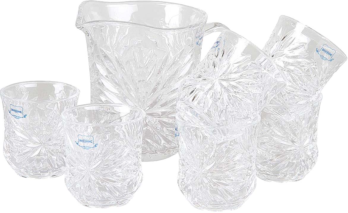 Набор питьевой Rosenberg, цвет: прозрачный, 7 предметов. RGL-795011 статуэтка rosenberg подкова 10 7 14 5 см стальной