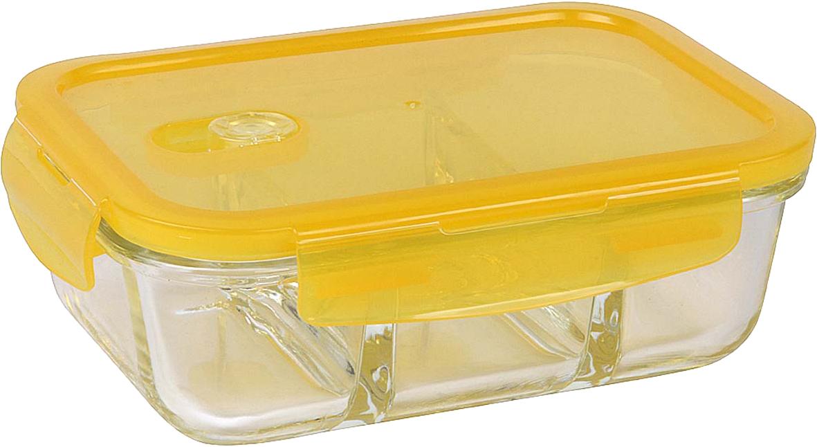 Контейнер прямоугольный с разделителем 1000 мл . Герметичный, широкий температурный диапазон использования. Материал стекло, пластик, силикон. Размеры 21.5 х 15.5 х 7.5 см.