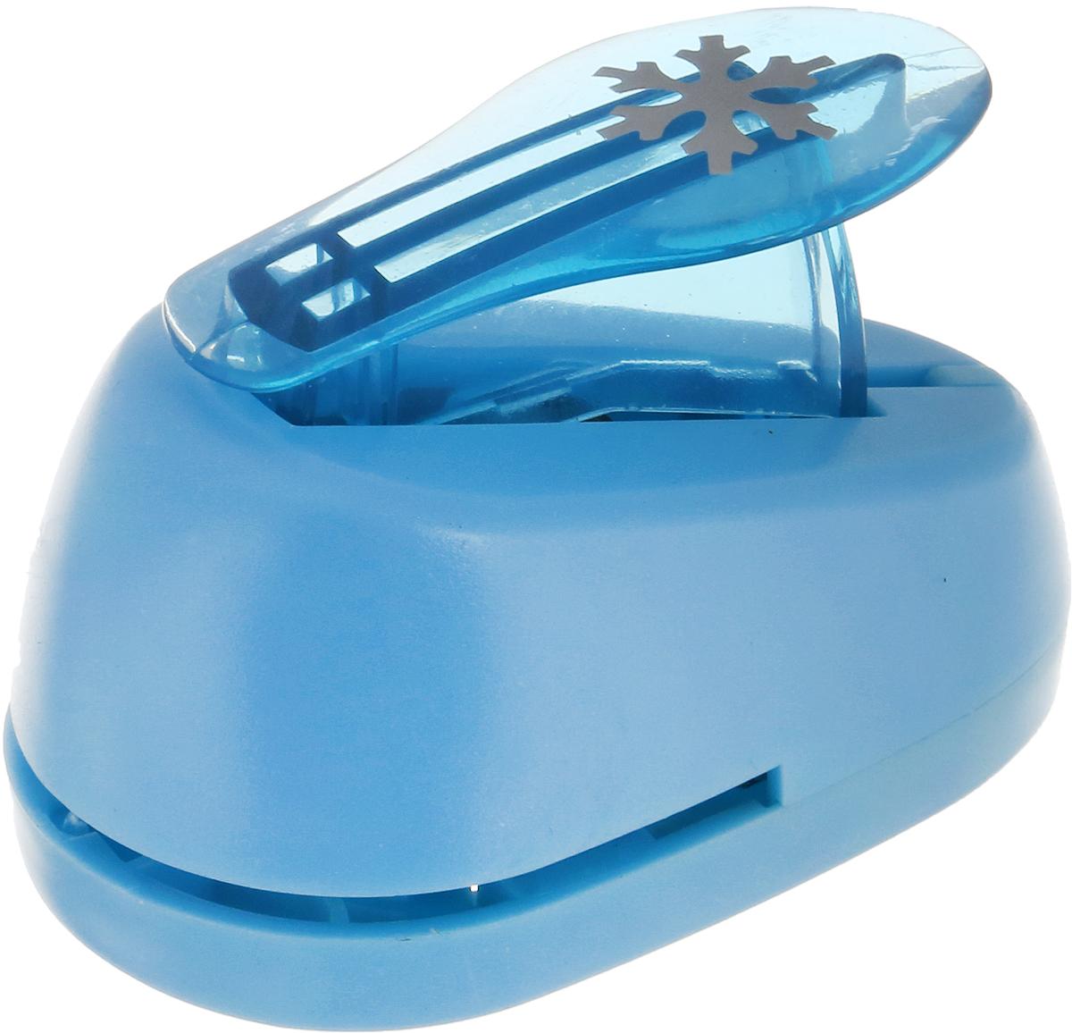 "Дырокол фигурный Hobbyboom ""Снежинка"", №350, цвет: голубой, 1,8 см"
