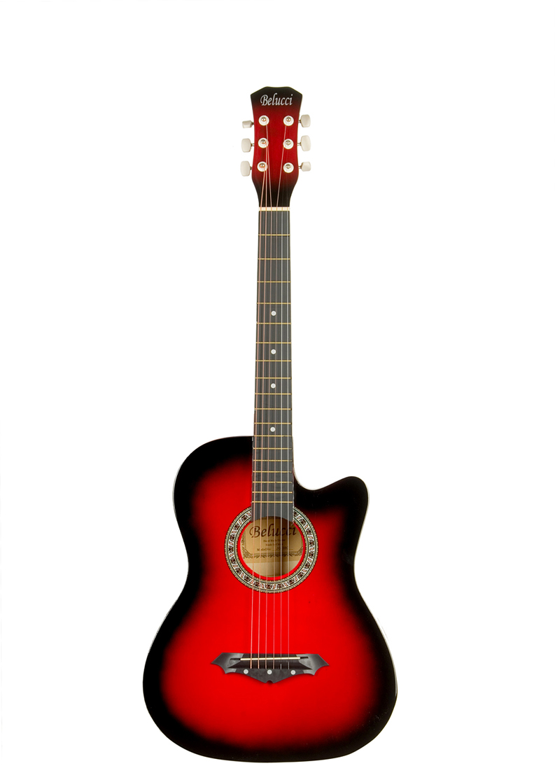 Belucci BC3810 , Red акустическая гитара акустическая гитара 40 41 jita