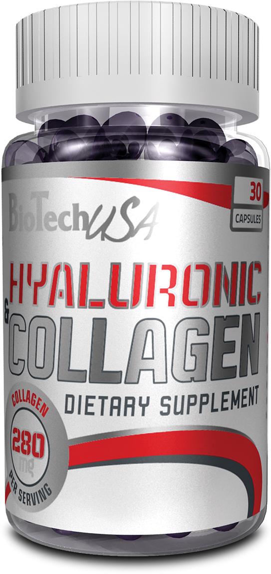 Препарат для суставов и связок BioTech Hyaluronic & Collagen, 30 капсул