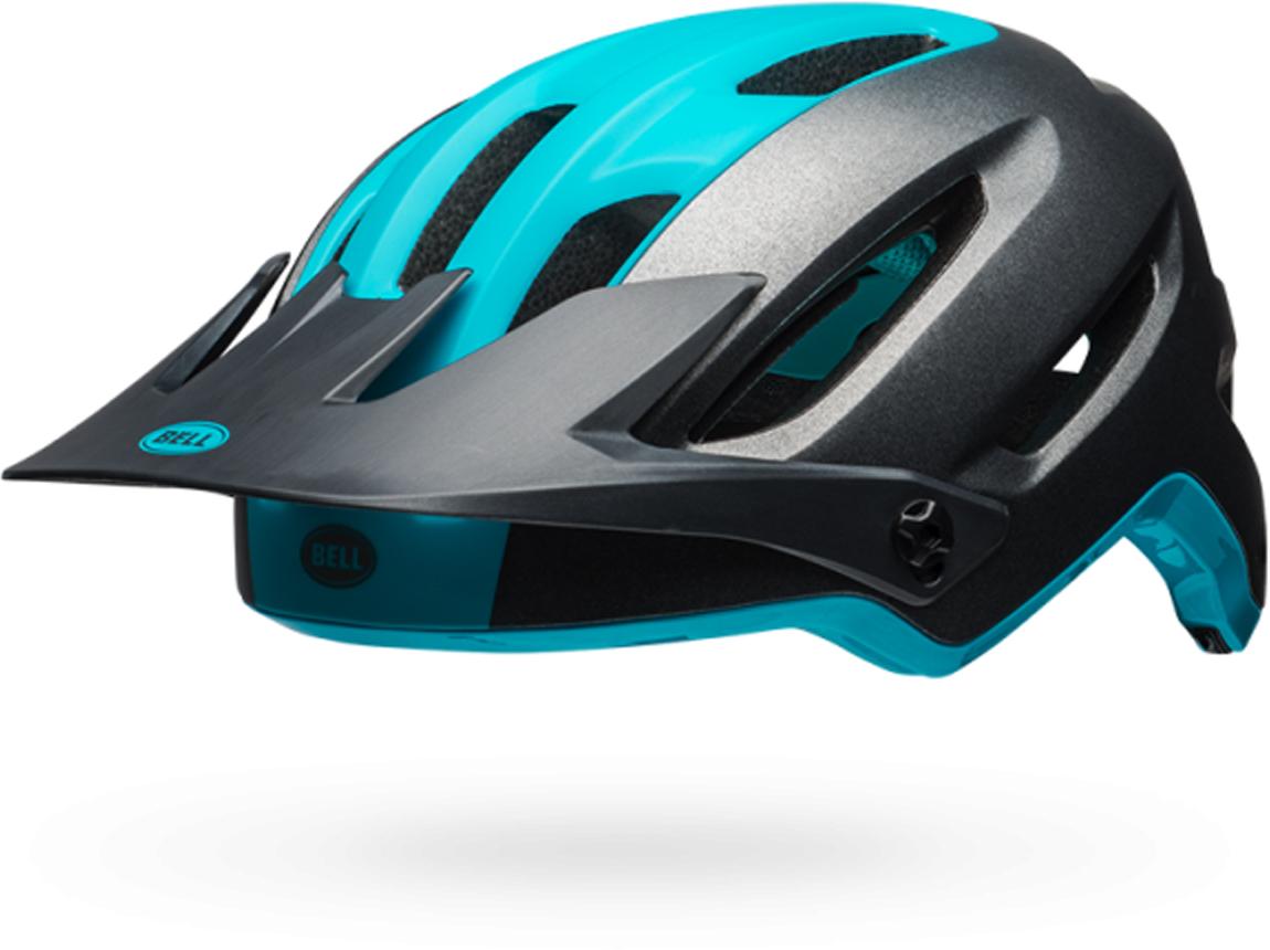 Шлем защитный Bell 18 4FORTY MTB, для взрослых, цвет: темно-серый, синий. Размер M (55/59)BE7091285Шлем защитный Bell 18 4FORTY MTB послужит отличной защитой во время катания на роликах или велосипеде.Доступная технологичность лучших шлемов из поликарбоната.• No-Twist Tri-Glides• Fusion In-Mold• Регулировка Ergo Fit, MIPS (опция)• Adjustable, Goggle-Compatible Visor, Sweat Guide.