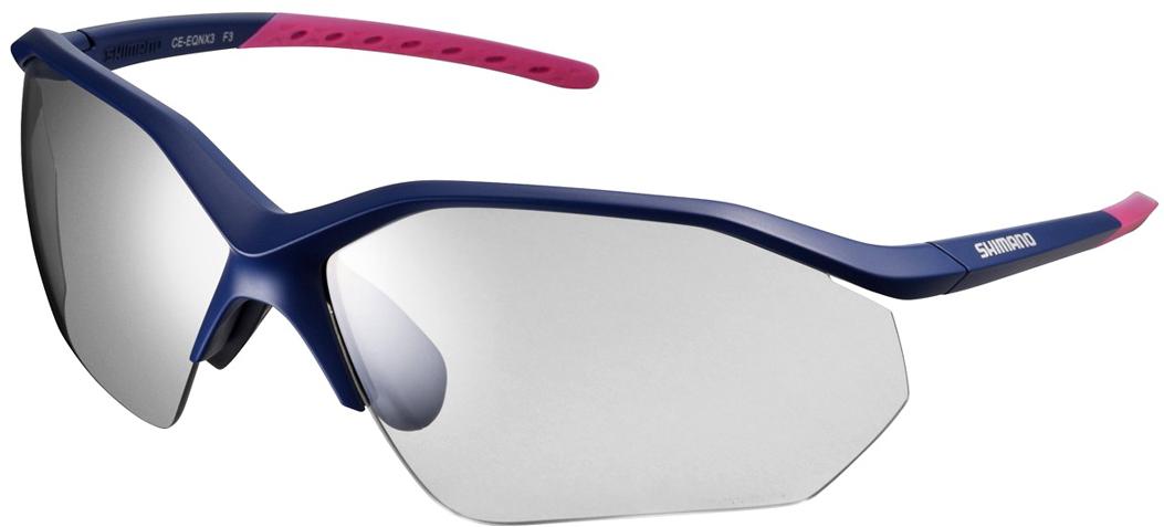 Велосипедные очки Shimano Equinox 3, цвет оправы: синий объективы и линзы