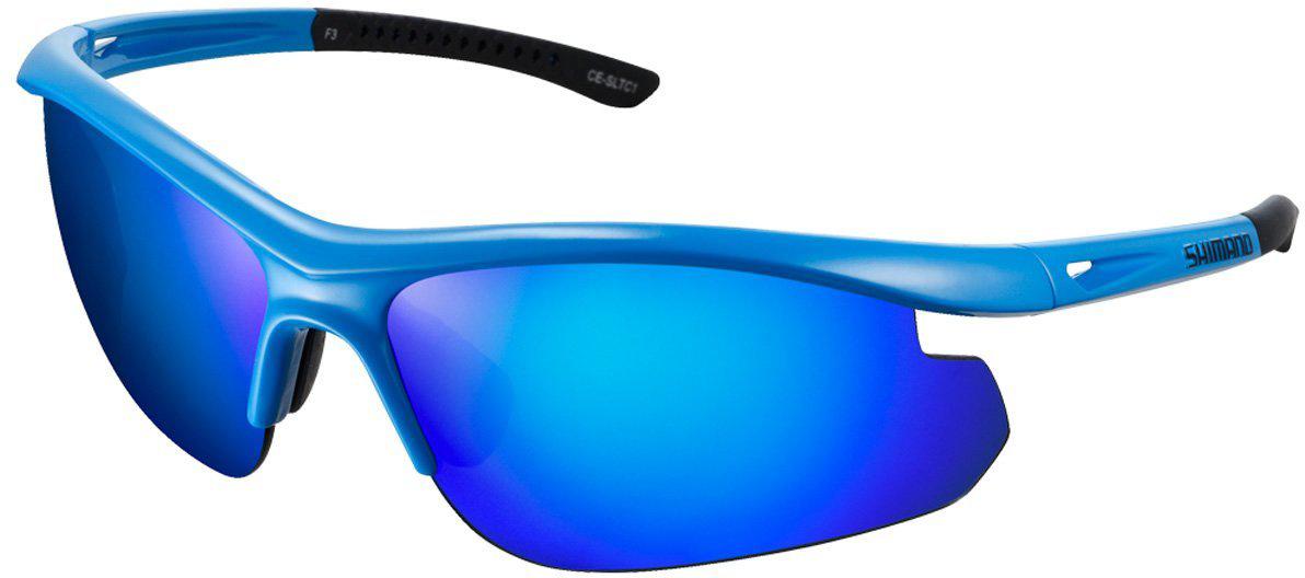 Велосипедные очки Shimano Solstice, цвет оправы: синий