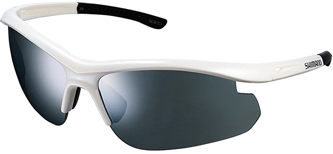 Велосипедные очки Shimano Solstice, цвет оправы: белый