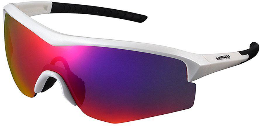 Велосипедные очки Shimano Spark, цвет оправы: белый объективы и линзы
