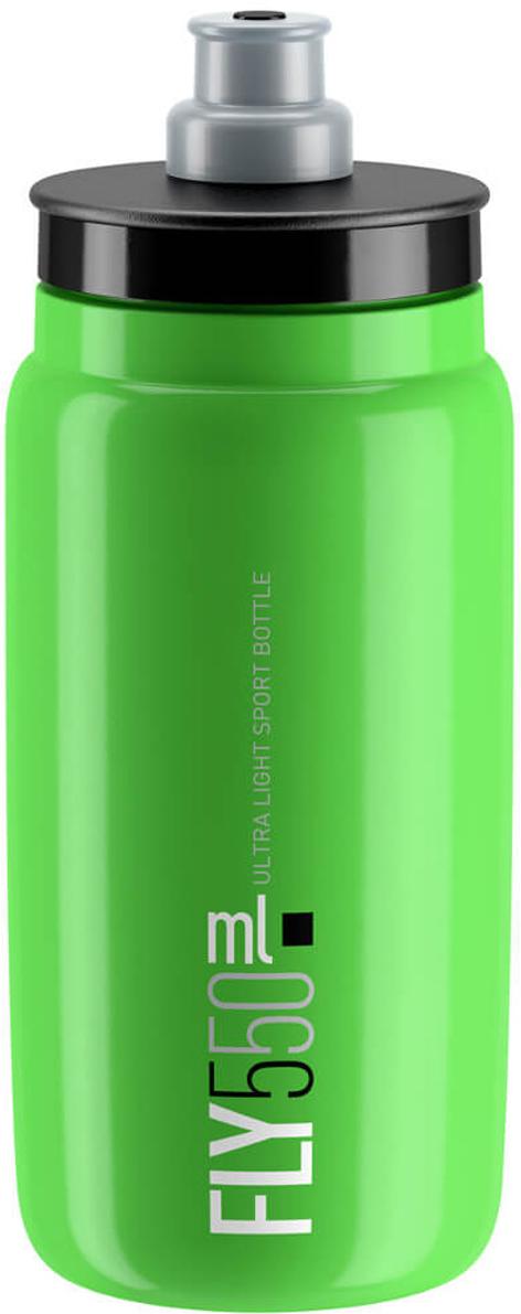 Фляга велосипедная Elite Fly, цвет: зеленый, 550 мл