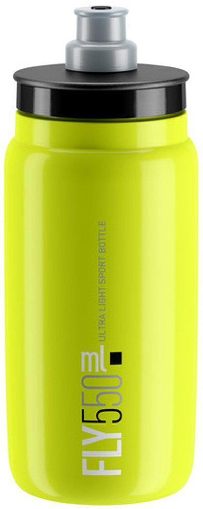 Фляга велосипедная Elite Fly, цвет: желтый флуоресцентный, 550 мл