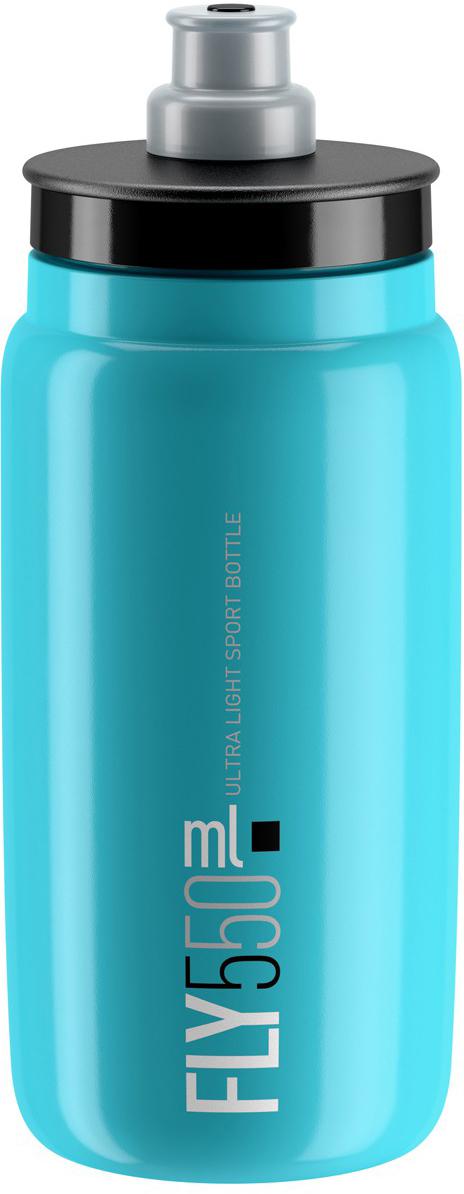 Фляга велосипедная Elite Fly, цвет: синий, 550 мл фляга велосипедная stern water bottle с держателем цвет фиолетовый 350 мл