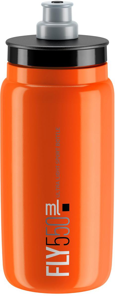 Фляга велосипедная Elite Fly, цвет: оранжевый, 550 мл