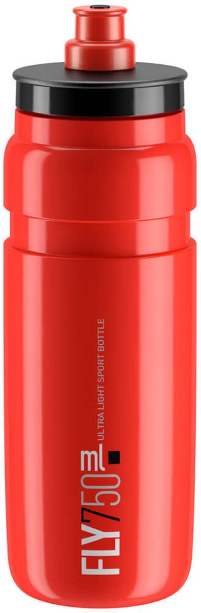Фляга велосипедная Elite Fly, цвет: красный, 750 мл