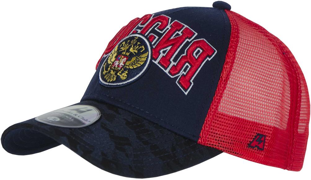 Бейсболка Atributika & Club Россия, цвет: синий, красный. 101578. Размер 55/58