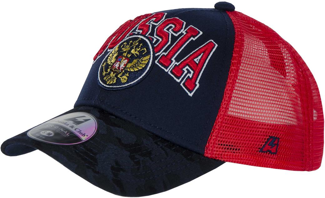 Фото Бейсболка детская Atributika & Club Россия, цвет: синий, красный. 101575. Размер 52/54