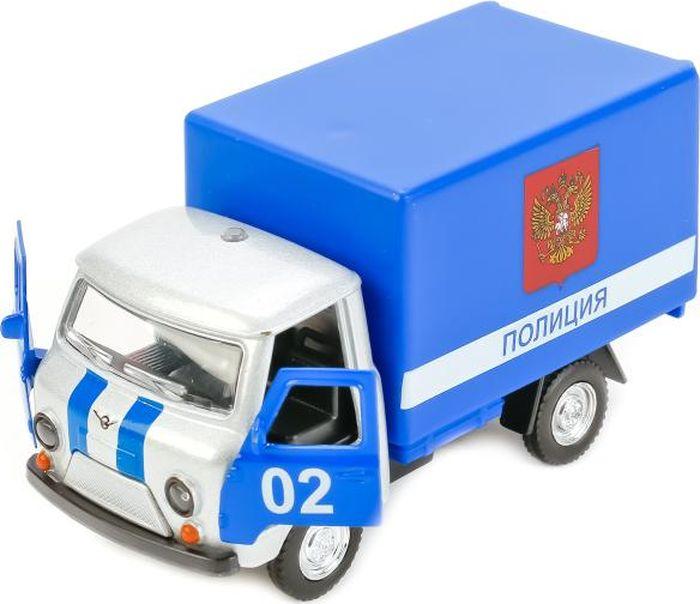 Технопарк Машинка инерционная УАЗ 3303 Милиция Полиция цвет серебристый машинка технопарк уаз патриот полиция 1 50