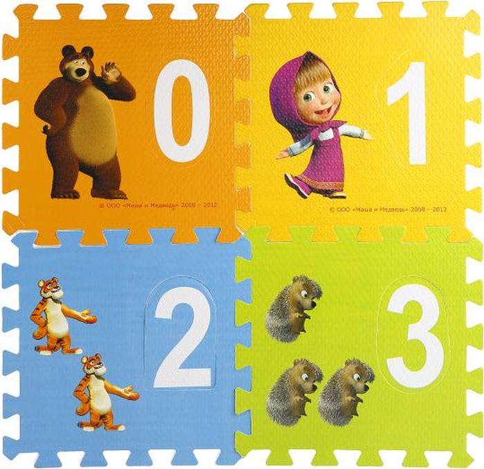 Играем вместе Коврик-пазл Маша и Медведь Математика FS-NUM-03-MM
