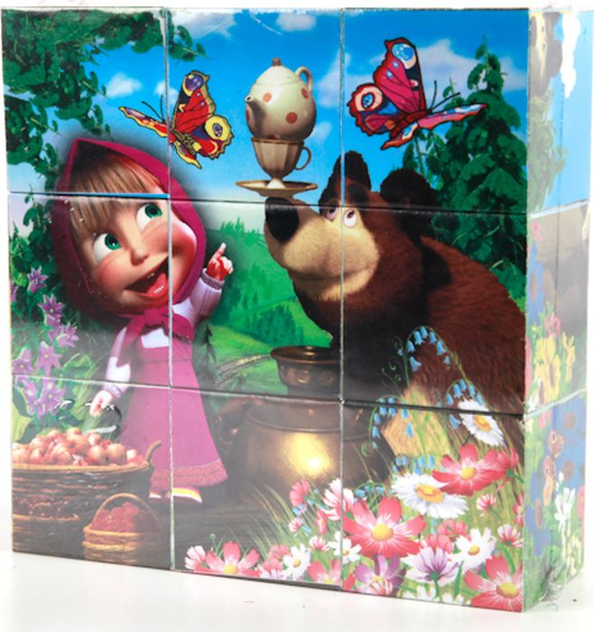 Играем вместе Кубики Маша и Медведь 9 шт