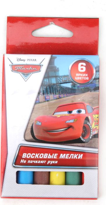 Multi Art Мелки восковые Disney Cars 6 цветов