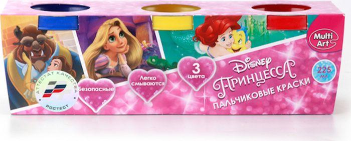 Multi Art Краски пальчиковые Принцессы Disney 3 цвета