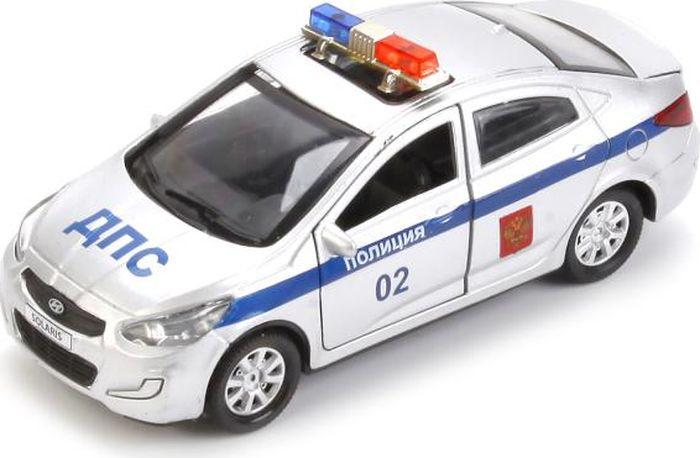 ТехноПарк Машинка инерционная Hyundai Solaris Полиция технопарк машинка инерционная hyundai solaris solaris mix
