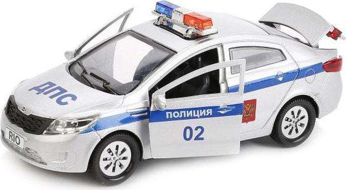 ТехноПарк Машинка инерционная Kia Rio Полиция машины технопарк машина kia rio полиция