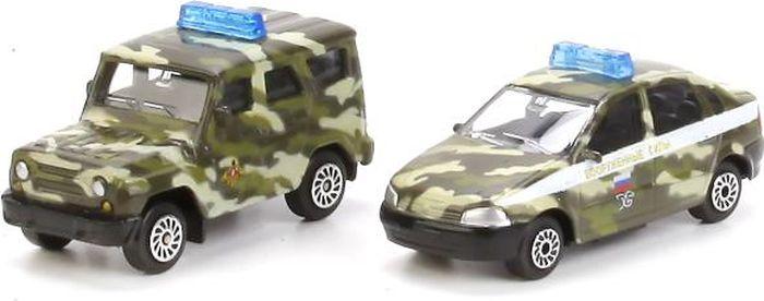 Технопарк Военная база с 2 машинками УАЗ и Лада