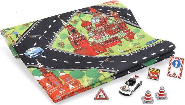 ТехноПарк Коврик игровой с машинкой с дорожными знаками