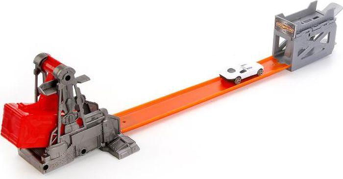 ТехноПарк Игрушечный трек с катапультой и машинкой набор игровой для мальчика poli средний трек с умной машинкой