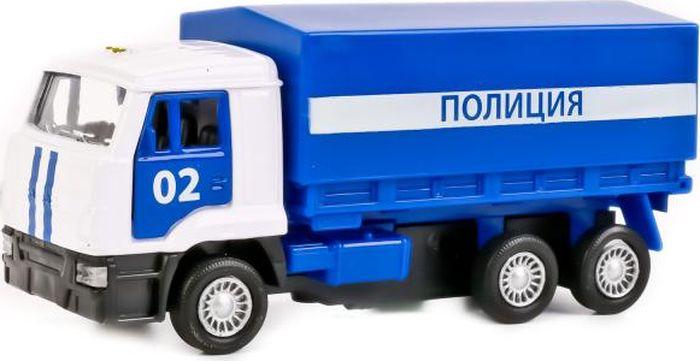 Технопарк Машинка инерционная Камаз 65207 Полиция со съемным тентом машинки технопарк машина технопарк металлическая инерционная полиция россии