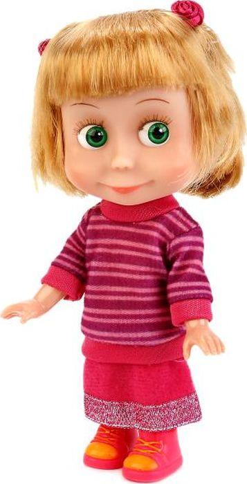 Карапуз Кукла озвученная Маша и Медведь Маша в свитере с аксессуарами куклы карапуз кукла карапуз принцесса рапунцель 25 см