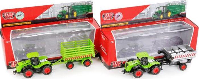 ТехноПарк Трактор с прицепом 77039-R трактор с прицепом св ход 36см dickie