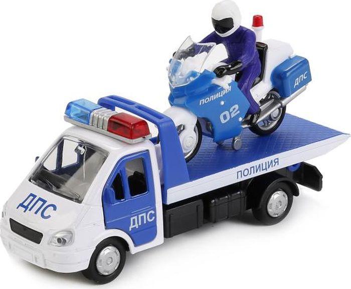 ТехноПарк Набор машинок Полиция Эвакуатор Мотоцикл 2 шт