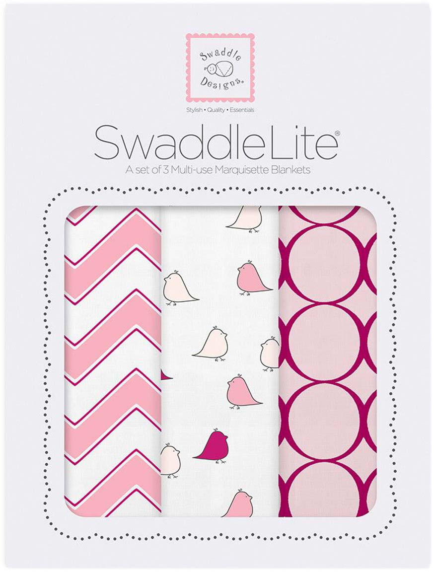 SwaddleDesigns Набор SwaddleLite Chic Chevron Lite Pink 3 шт