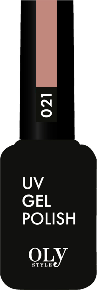 OlystyleГель-лакдляногтейтон№021розово-коричневый, 10 мл