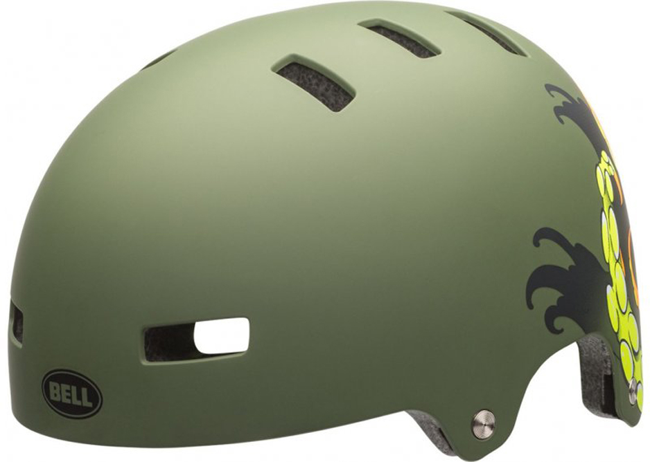 Шлем защитный Bell 17 LOCAL BMX, для взрослых, цвет: темно-зеленый. Размер M (55/59)