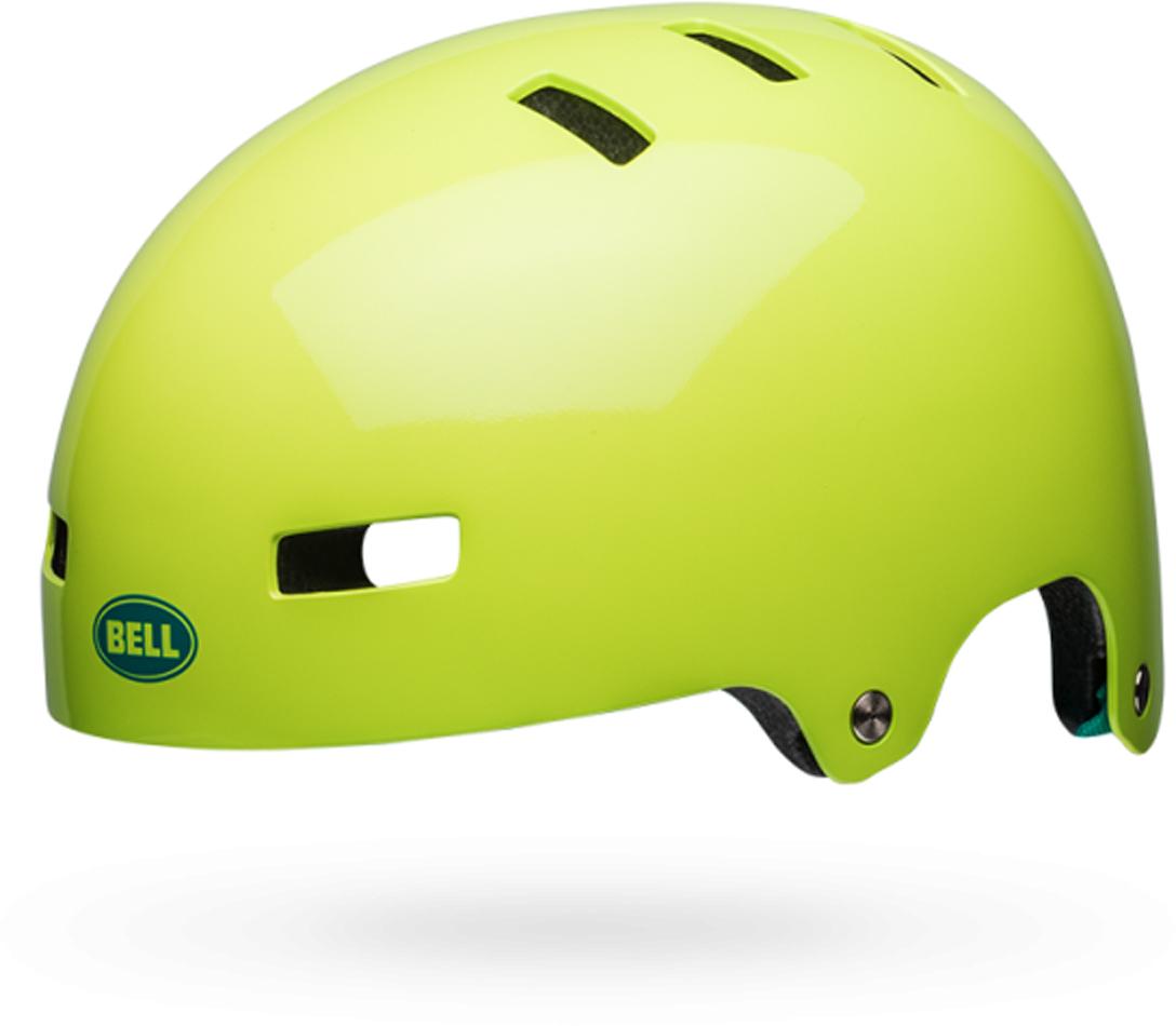 Шлем защитный Bell 18 LOCAL BMX, для взрослых, цвет: салатовый. Размер S (51/55)
