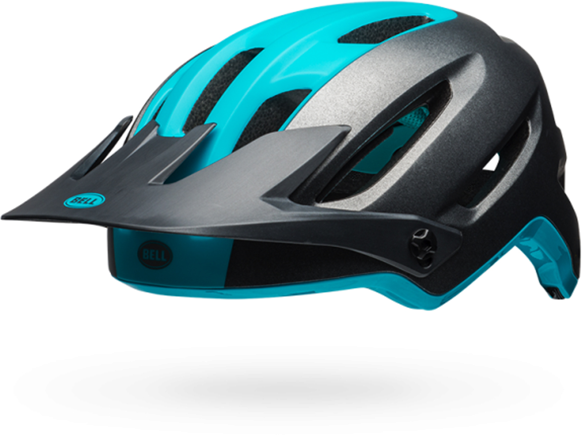 Шлем защитный Bell 18 4FORTY MTB, для взрослых, цвет: темно-серый, синий. Размер S (52/56)